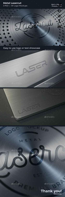 GraphicRiver - Metal Lasercut Logo Mockups 28944468