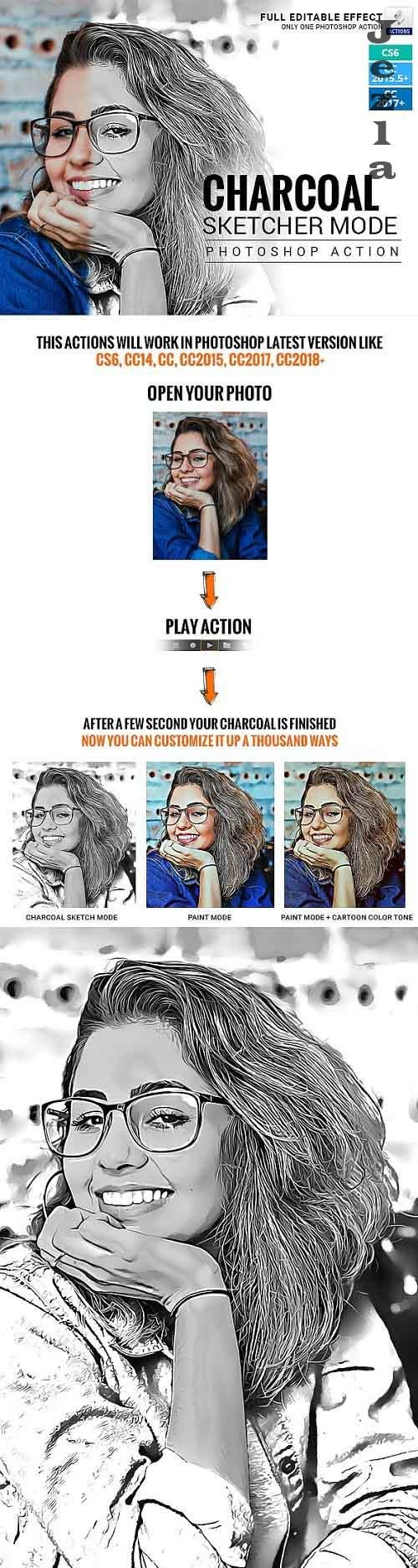 GraphicRiver - Charcoal Sketcher Mode - Photoshop Action 28741156