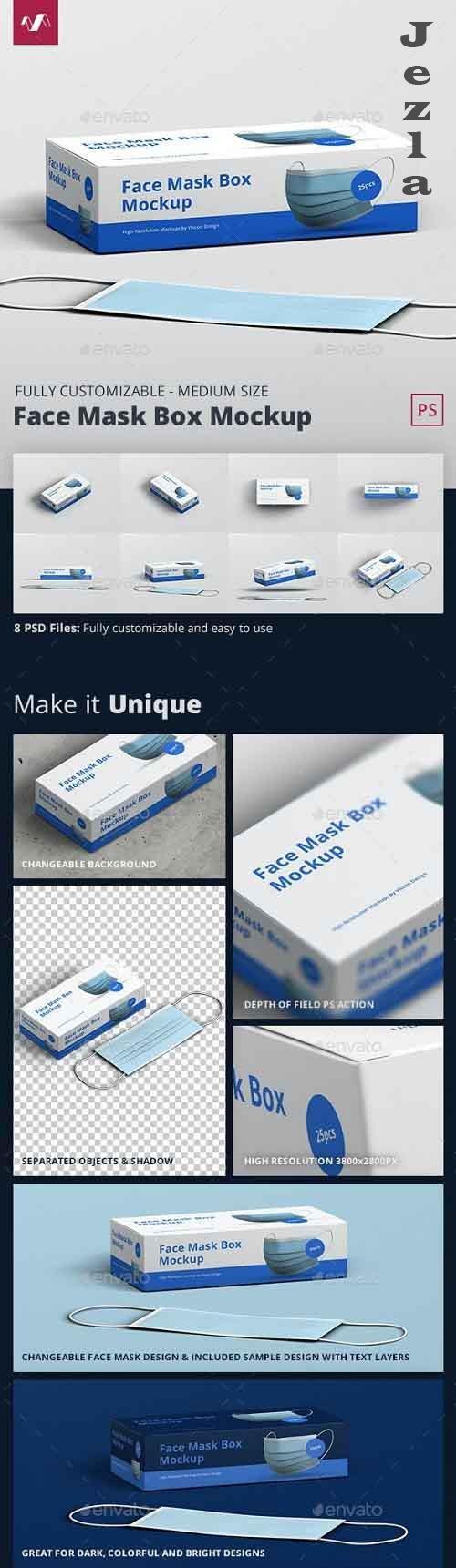 GraphicRiver - Face Mask Box Mockup Medium Size 28926889