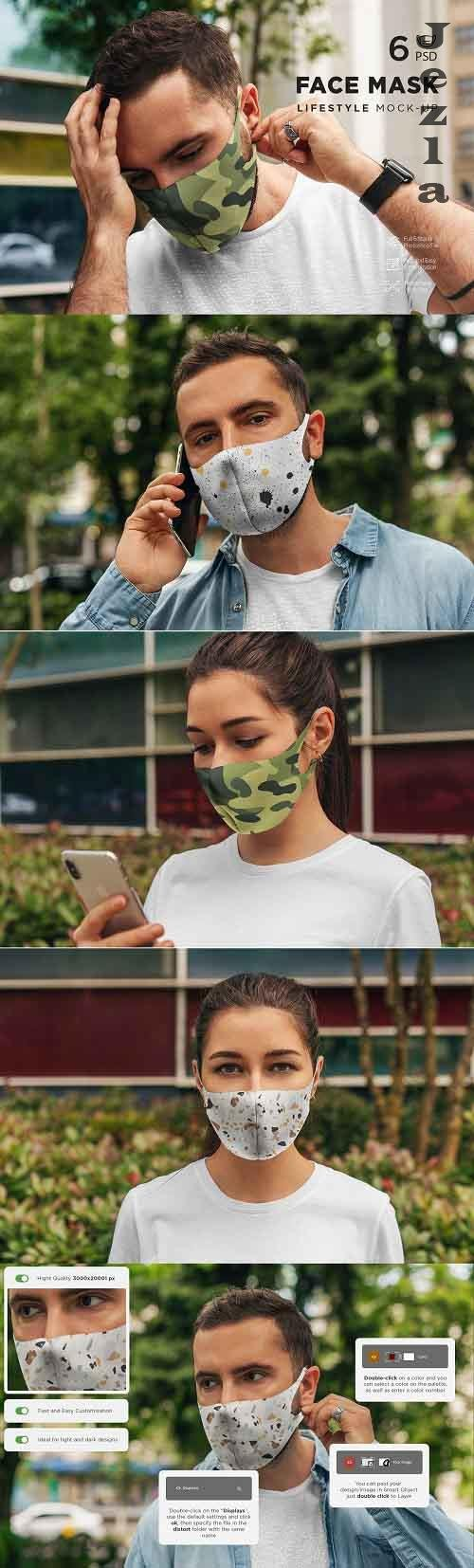 CreativeMarket - Face Mask MockUp Lifestyle 2 5012168