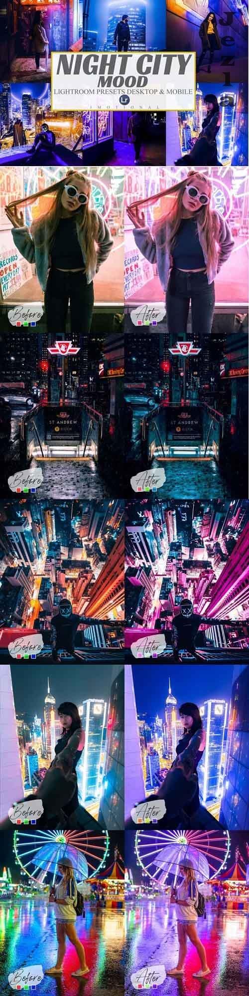 7 Night City Mood Mobile And Desktop Lightroom Presets - 1003383