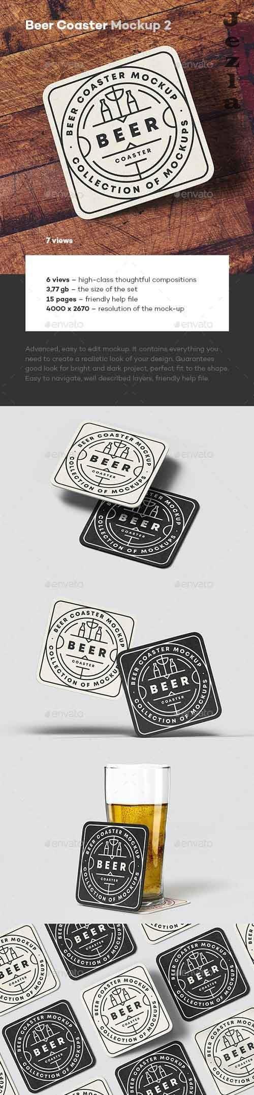 GraphicRiver - Beer Coaster Mock-up 2 28821829