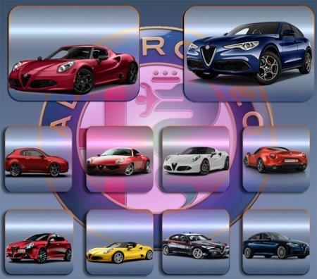 Растровые клипарты - Автомобили Alfa romeo