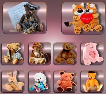 Клипарты для фотошопа - Плюшевые игрушки