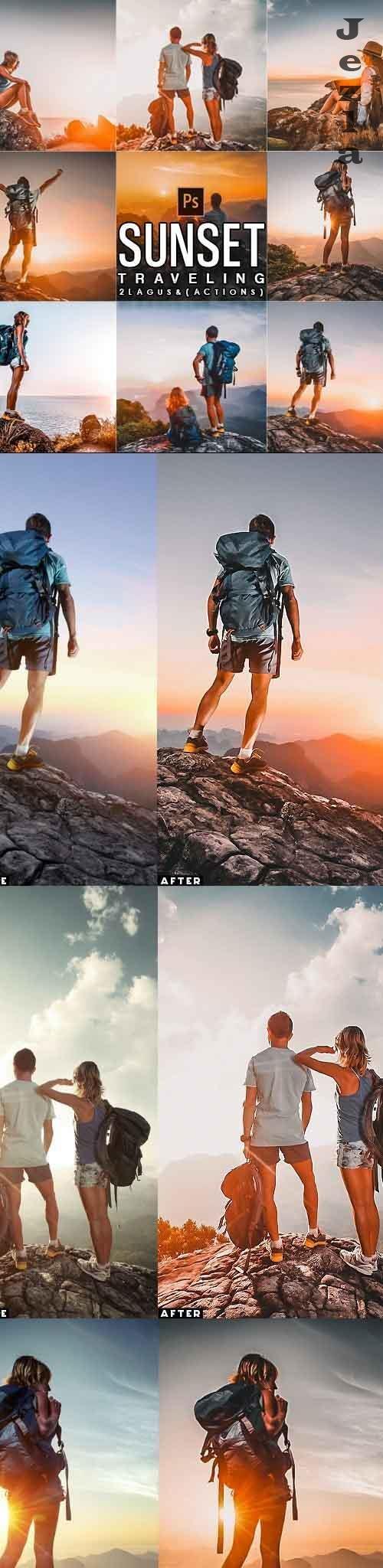Sunset Traveling Photoshop Actions - 29002653