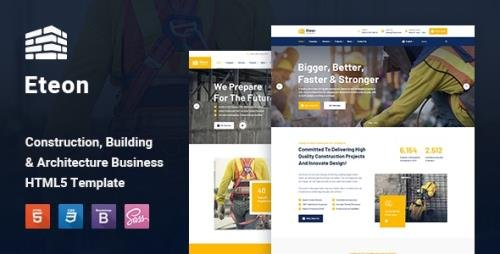 ThemeForest - Eteon v1.0 - Construction and Building HTML5 Template - 28067443