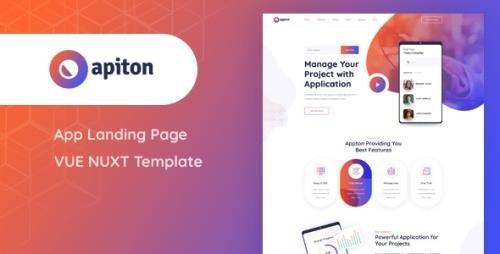 ThemeForest - Apiton v1.0 - Vue Nuxt App Landing Page Template - 29013755