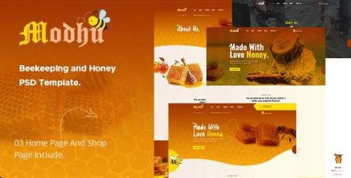 ThemeForest - Modhu v1.0 - Beekeeping and Honey PSD Template - 28958006