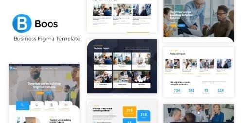 ThemeForest - Boos v1.0 - Business Figma Template - 29071565
