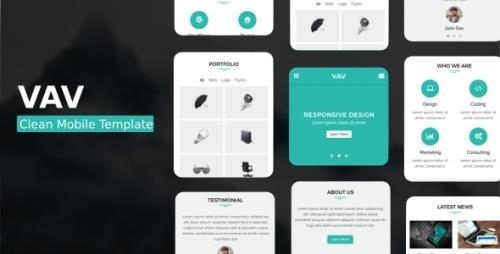 ThemeForest - VAV v1.0 - Clean Mobile Template - 20994939