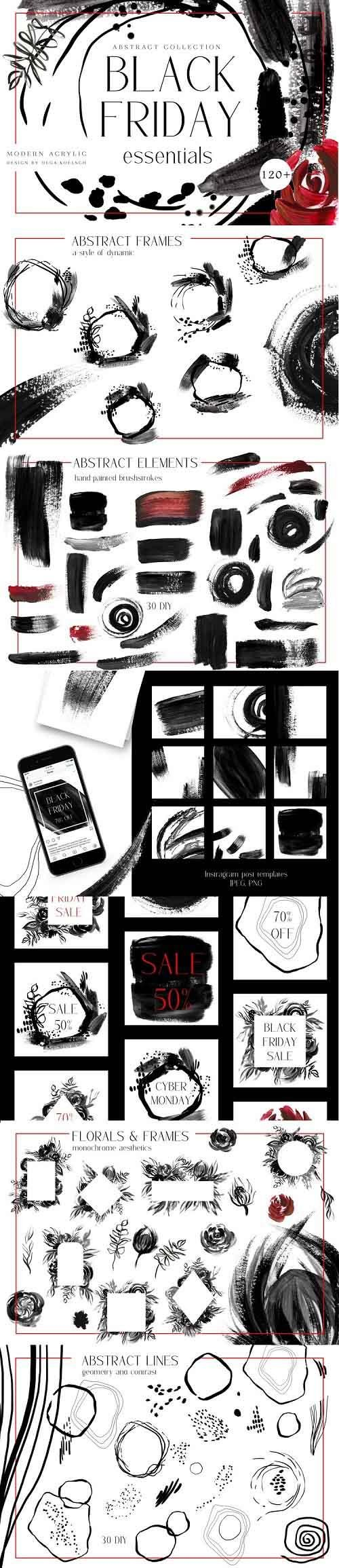 Black Friday sale templates, social media sale stickers - 1006518