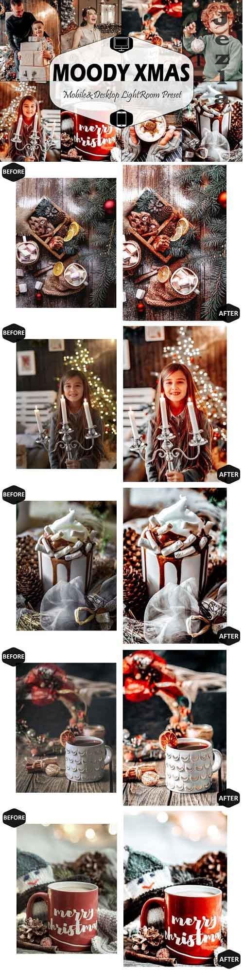 10 Moody Xmas Mobile & Desktop Lightroom Presets, Christmas - 1010956