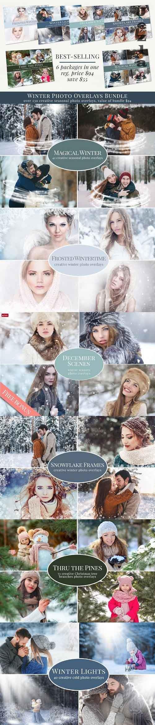Winter Photo Overlays Bundle - 5497633