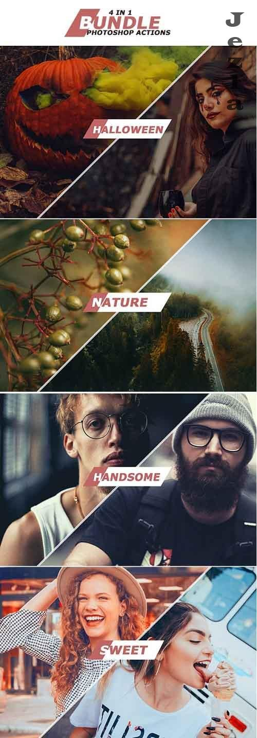 GraphicRiver - 4 IN 1 Photoshop Actions October Bundle 1 28998198