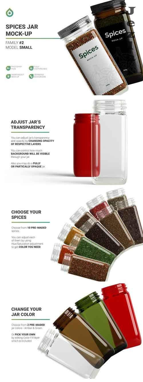 CreativeMarket - Spices Jar Mockup 5471675