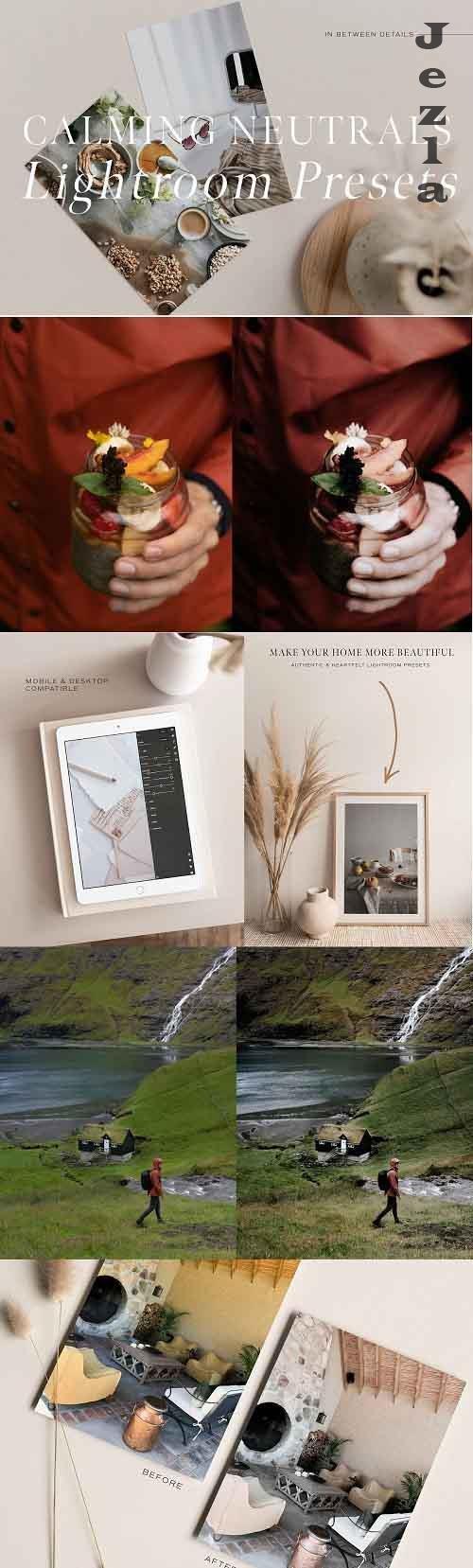 CreativeMarket - Calming Neutrals Lightroom Presets 4935953