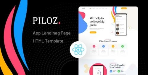 ThemeForest - Piloz v1.0 - React Next App Landing Page Template - 29158787