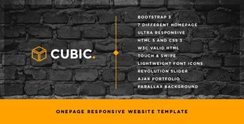 ThemeForest - Cubic v1.2 - One Page Creative Website Template - 7650531