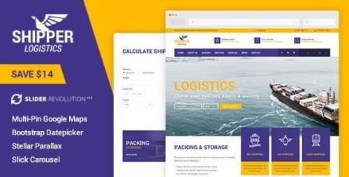 ThemeForest - Shipper Logistic v1.0 - Transportation HTML Template - 13783624