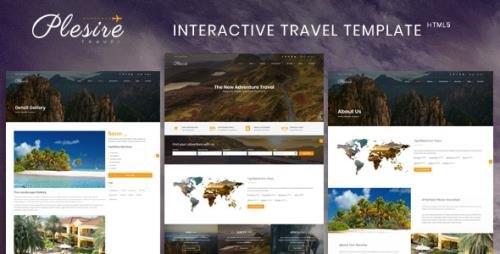 ThemeForest - Plesire v1.0 - Interactive Travel Template (Update: 19 August 18) - 22327164