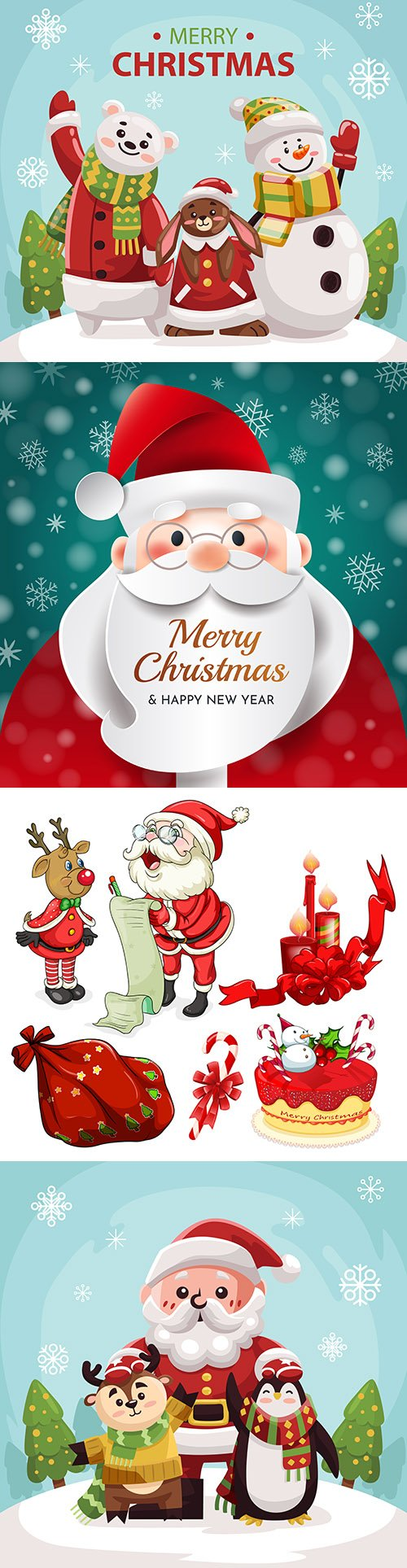 Santa Claus on Christmas background for your greeting card