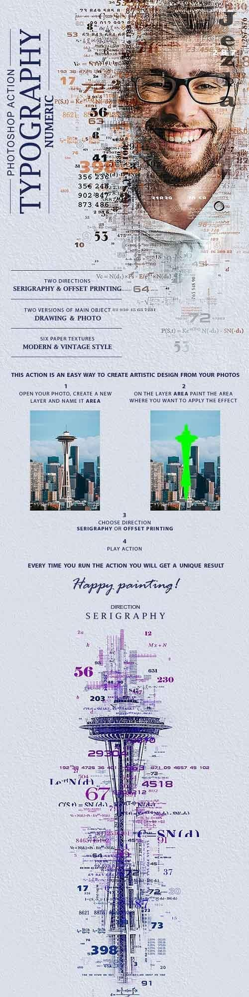 GraphicRiver - Typography (Numeric) Photoshop Action 28477619