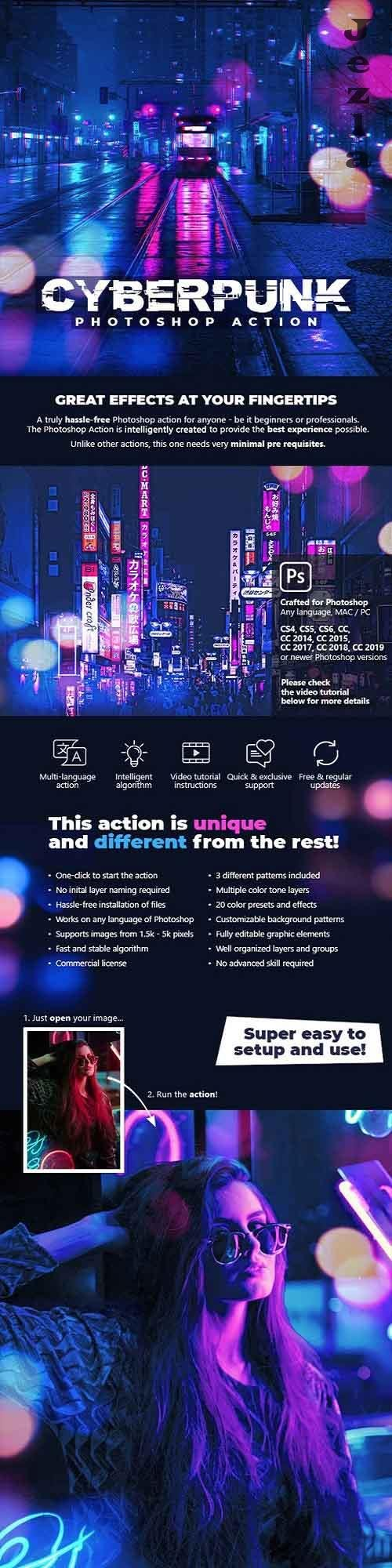 GraphicRiver - Cyberpunk Photoshop Action 28480390