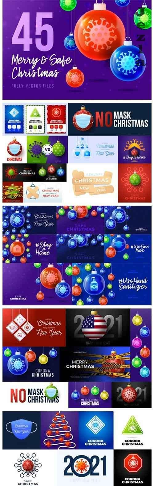 45 Merry and Safe Christmas Banners - 1013921