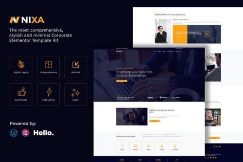 ThemeForest - Nixa v1.0 - Business & Services Elementor Template Kit - 28731260