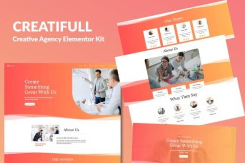 ThemeForest - Creatifull v1.0 - Creative Agency Elementor Template Kit - 28616522