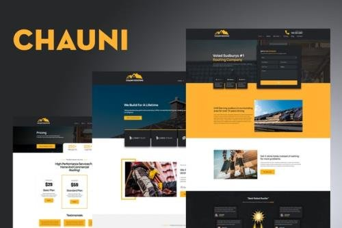 ThemeForest - Chauni v1.0 - Roofing Elementor Template Kit - 29122899
