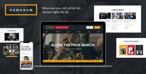 ThemeForest - Humanum v1.0 - Human Rights WordPress Theme - 28111940 - NULLED