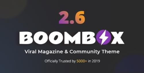ThemeForest - BoomBox v2.6.8 - Viral Magazine WordPress Theme - 16596434 - NULLED
