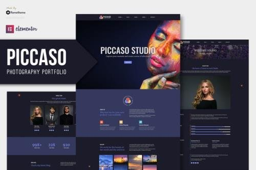 ThemeForest - Piccaso v1.0 - Photography Elementor Template Kit - 29150174