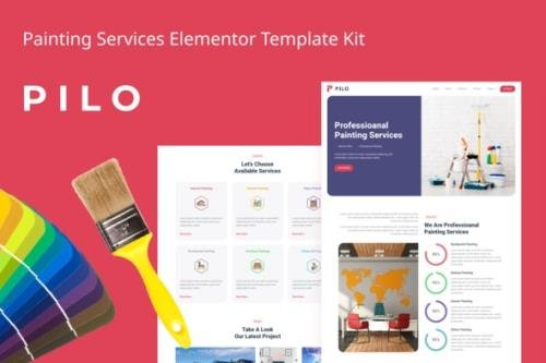 ThemeForest - Pilo v1.0 - Painting Services Elementor Template Kit - 29244799