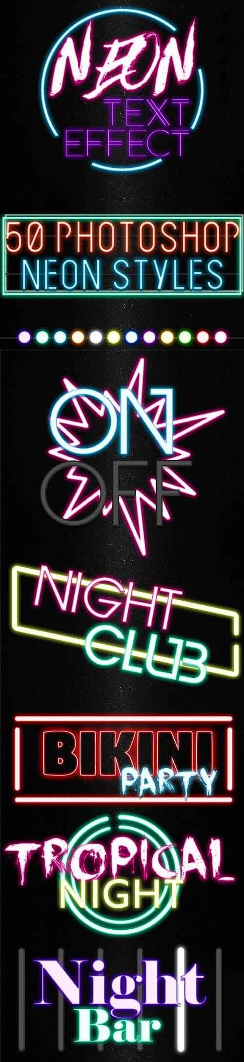 GraphicRiver - Neon Text Effect - 50 Photoshop Neon Styles 29048388