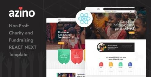 ThemeForest - Azino v1.0 - React Next Nonprofit Charity Template - 28948682