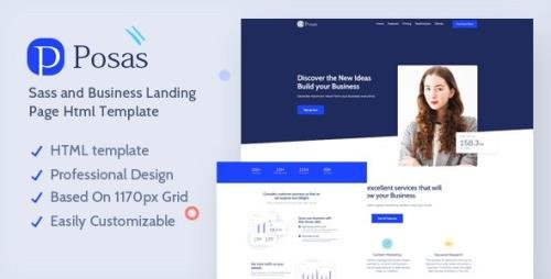 ThemeForest - Posas v1.0 - Saas Software Landing Page Template - 28664157