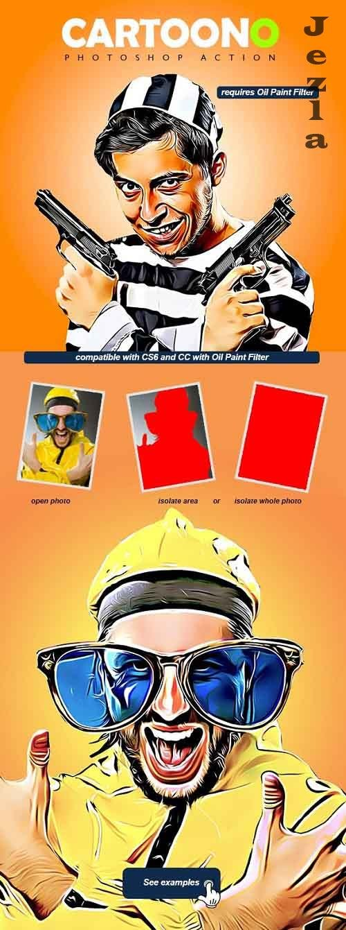 GraphicRiver - Cartoono - Photoshop Action 28715787