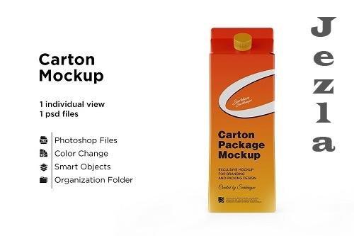 CreativeMarket - Carton Package With Plastic Cap 5558121