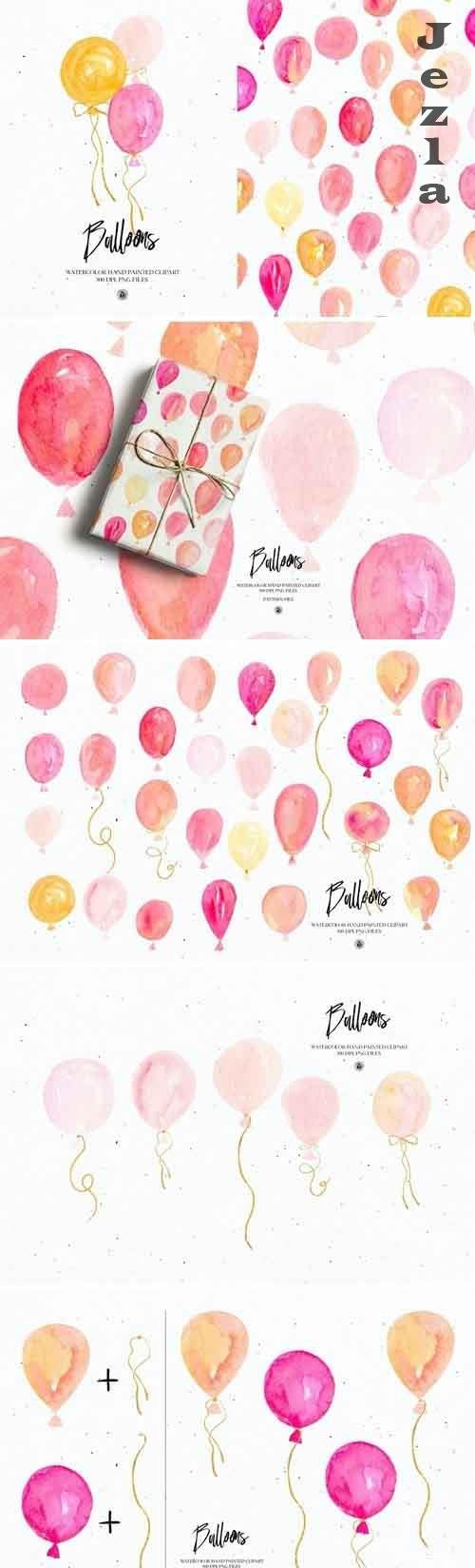 Watercolor Balloons - 5500247