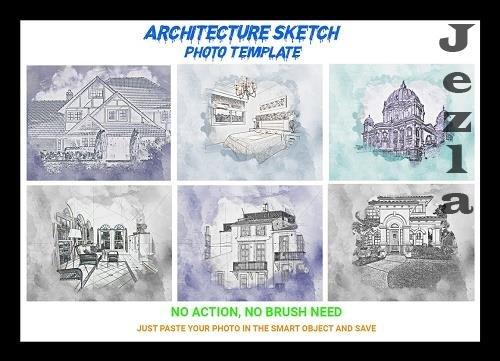 CreativeMarket - Architecture Sketch Photo Template 4545095