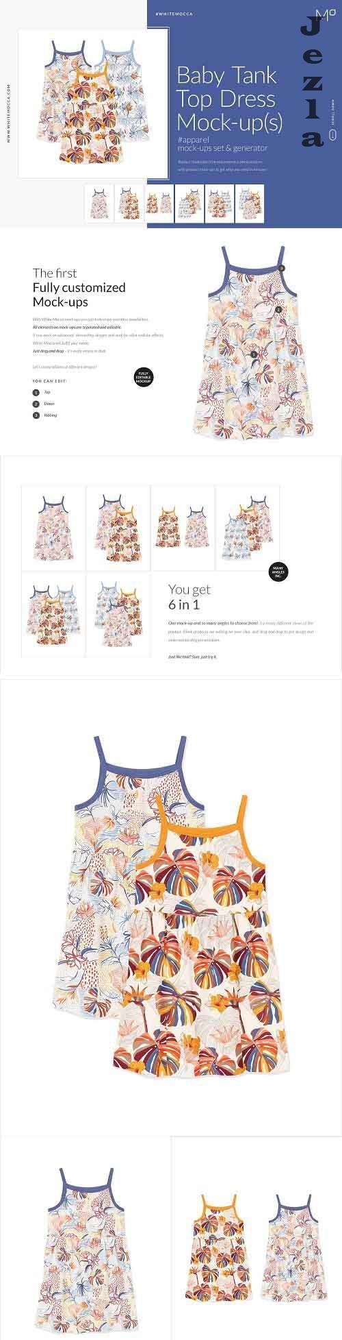 CreativeMarket - Baby Tank Top Mock-ups Set 4548252