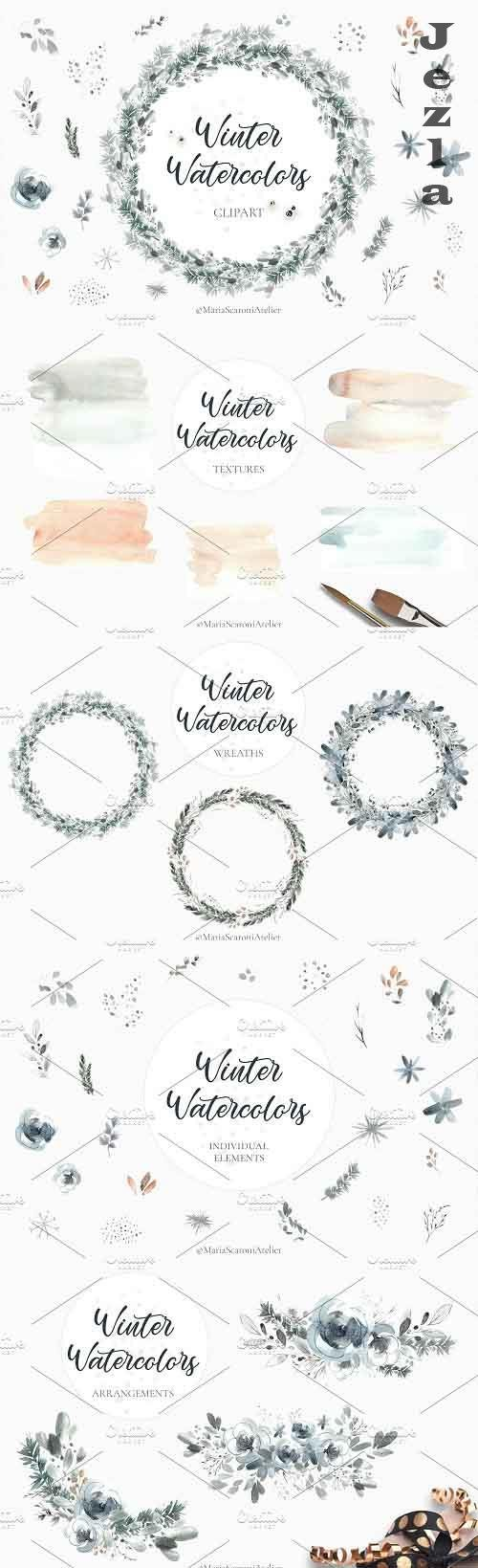 Watercolor Christmas Clipart - 5578154