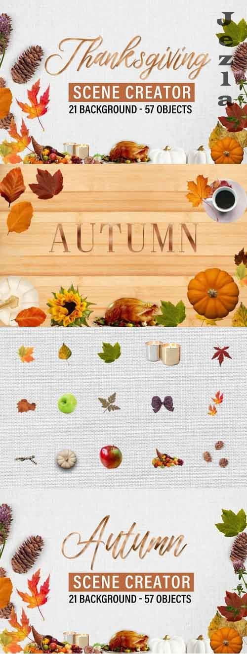Autumn and Thanksgiving scene creator - 1009587