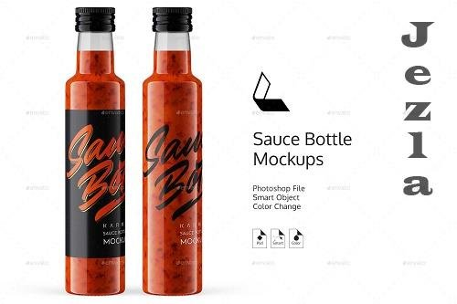 GraphicRiver - Red Sauce Bottle Mockup 26314908