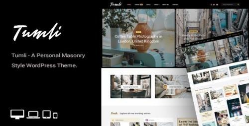 ThemeForest - Tumli v2.0 - A Personal Masonry Style WordPress Theme - 22675110