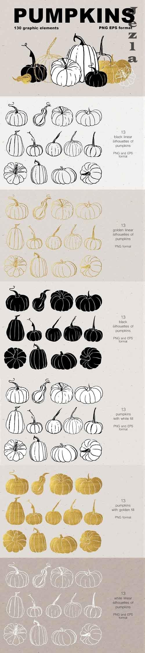 Pumpkins. Graphic collection - 5513384