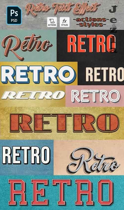 GraphicRiver - Retro Text Effect - 10 Photoshop Different Styles 29215768