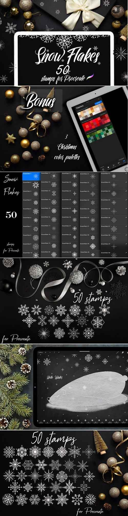 50 Snowflake Stamps for Procreate - 1029308 - Hello Winter!